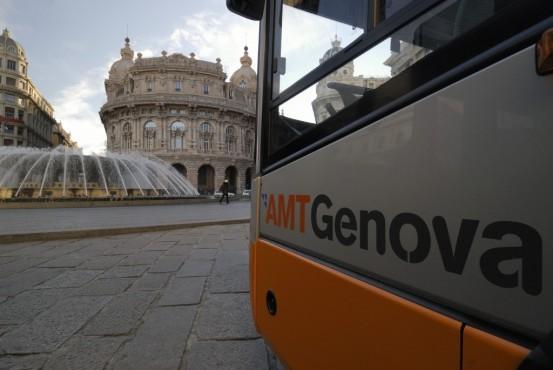 Foto di oggi – bus a De Ferrari